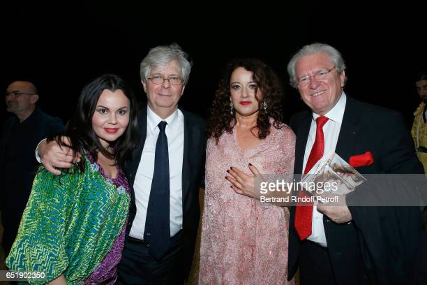 Soprano Alexandra Kurzak Director of Opera de Paris Stephane Lissner MezzoSoprano Clementine Margaine and Alain Duault attend the AROP Charity Gala...