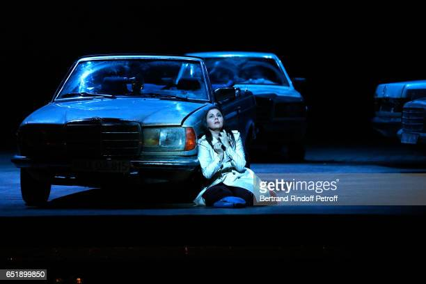 Soprano Alexandra Kurzak performs during the AROP Charity Gala in the representation of Carmen at Opera Bastille on March 10 2017 in Paris France
