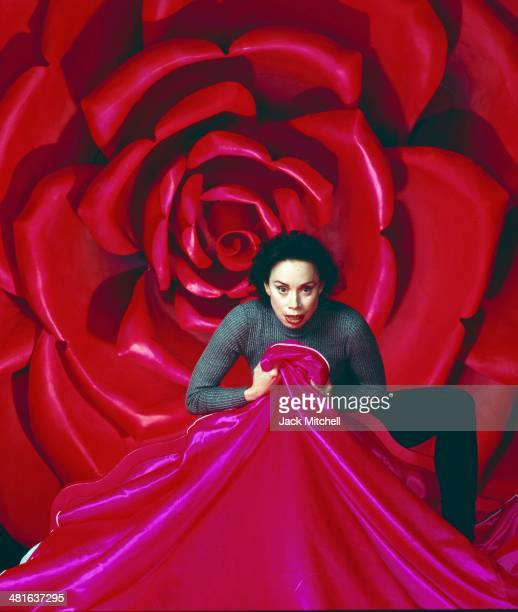 Soprano and mezzo soprano opera singer Maria Ewing photographed on stage at the Metropolitan Opera in New York in 1994
