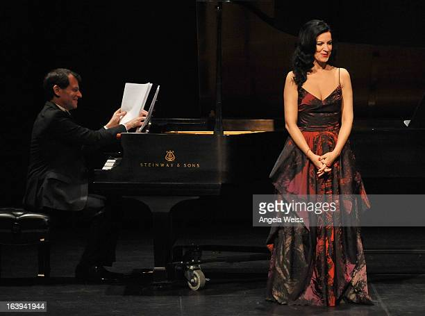Soprano Angela Gheorghiu in her West Coast recital debut at The Broad Stage on March 17 2013 in Santa Monica California