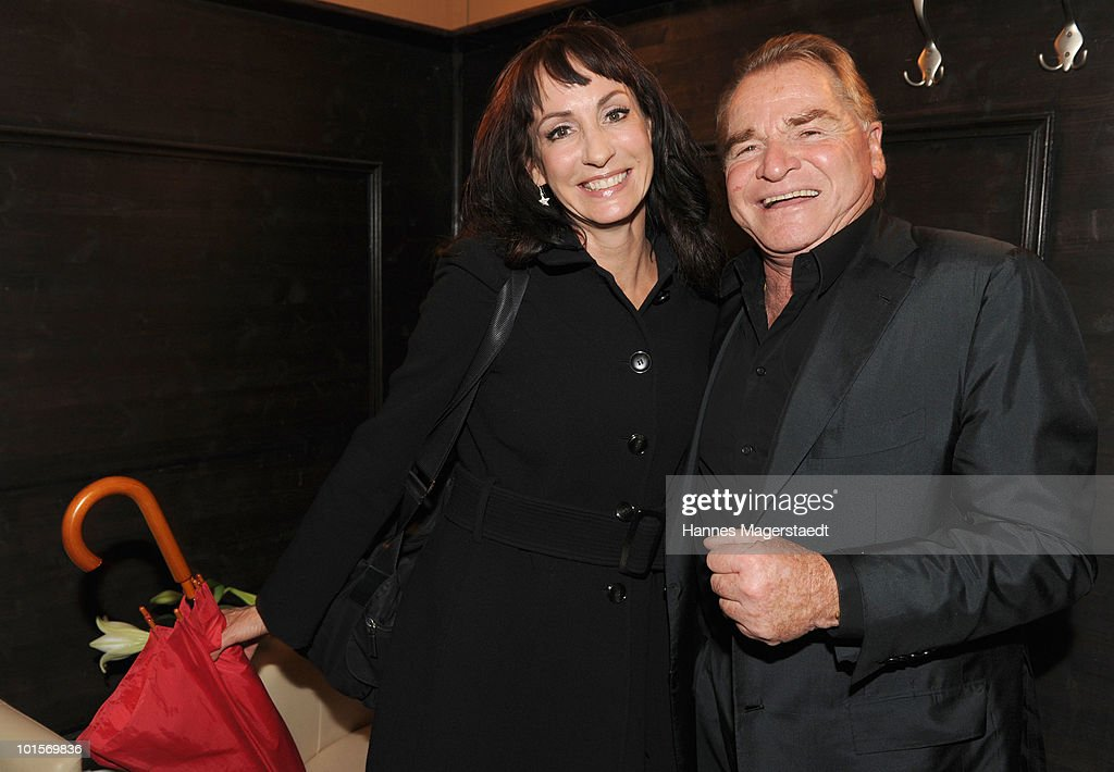 Soprano Anna Maria Kaufmann and Fritz Wepper attend the premiere of 'Puppenspiel' at the Forum Kino on June 2, 2010 in Munich, Germany.