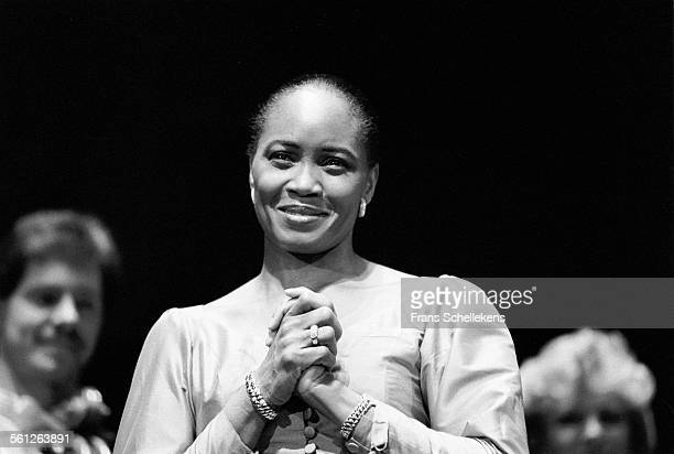 Soprano Barbara Hendricks performs at the Concertgebouw on January 17th 1992 in Amsterdam Netherlands