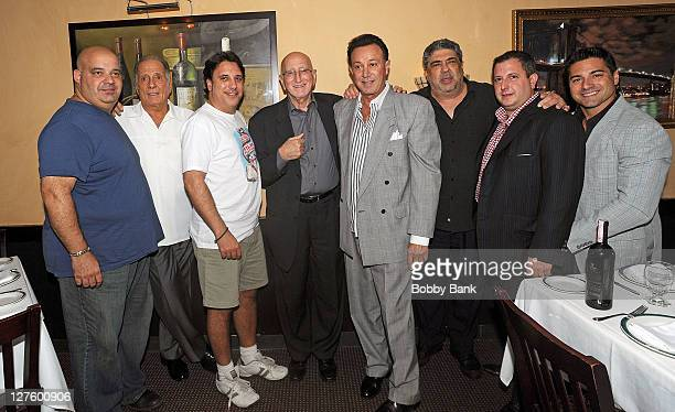 Soprano cast members Anthony Ribustello Arthur Nascarella Lou Martini Jr Dominic Chianese Tony Darrow Vincent Pastore and guests attend The Sopranos...