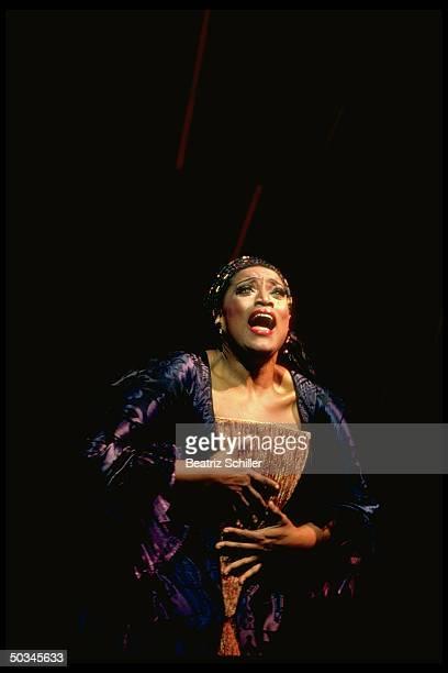 Soprano Jessye Norman as Ariadne in Ariadne auf Naxos by Richard Strauss on stage at the Metroplitan Opera