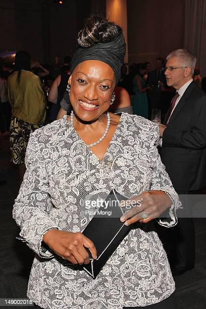 Soprano Jessye Norman attends Together To End AIDS An Evening To Benefit amfAR and GBCHealth at John F Kennedy Center for the Performing Arts on July...