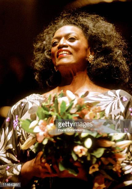 Soprano Jessye Norman performs live in the Concertgebouw in Amsterdam, Netherlands on 29th October 1992.