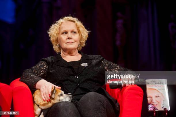 "Soprano Katia Ricciarelli presenting her book ""Da donna a donna"", during the event ""Panorama d'Italia"". Katia Ricciarelli is being interviewed by..."