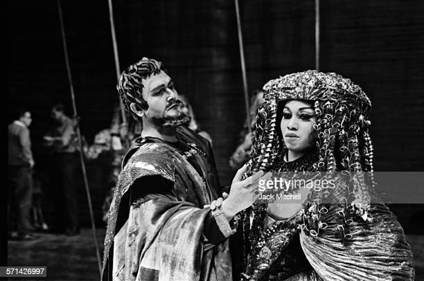 """Soprano Leontyne Price, one of the first African Americans to become a leading artist at the Metropolitan Opera, photographed in """"Antony and..."""