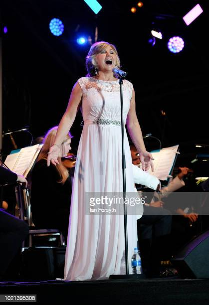 Soprano Lesley Garrett performs during Yorkshire's biggest openair proms of the summer at Castle Howard on August 18 2018 in Malton England Held in...