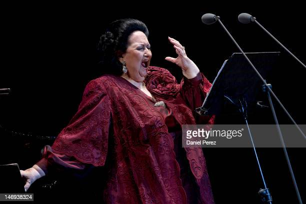 Soprano Montserrat Caballe during the concert at the Hotel Puente Romano for The Children for Peace charity that provides education for children on...
