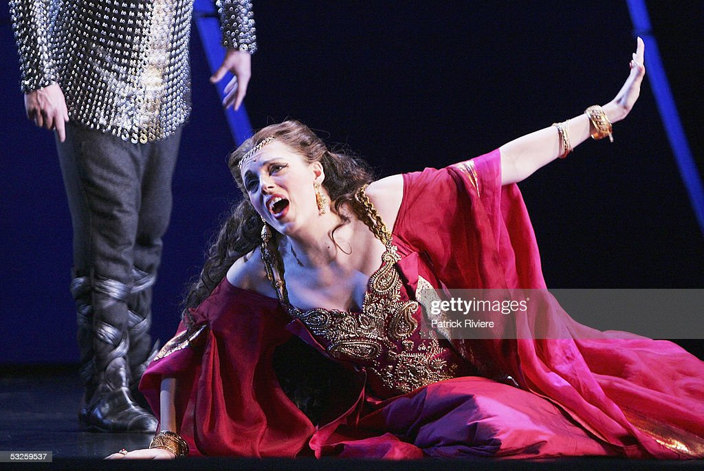 Soprano Rachelle Durkin (Armida) performs during a dress rehearsal of Handel's 'Rinaldo' at the Opera House on July 19, 2005 in Sydney, Australia.