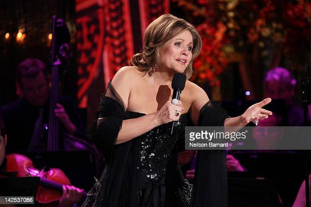 Soprano Renee Fleming along with the Orpheus Chamber Orchestra performs on stage as part of Live From Lincoln Center at the Stanley H Kaplan...
