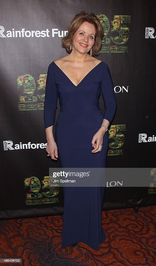 Soprano Renee Fleming attends the 25th Anniversary Rainforest Fund Benefit at Mandarin Oriental Hotel on April 17, 2014 in New York City.