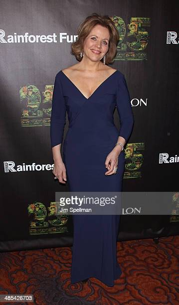Soprano Renee Fleming attends the 25th Anniversary Rainforest Fund Benefit at Mandarin Oriental Hotel on April 17 2014 in New York City