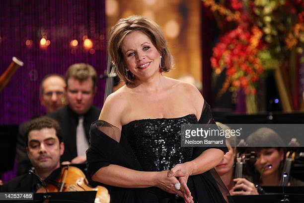 Soprano Renee Fleming performs along with the Orpheus Chamber Orchestra on stage as part of Live From Lincoln Center at the Stanley H Kaplan...