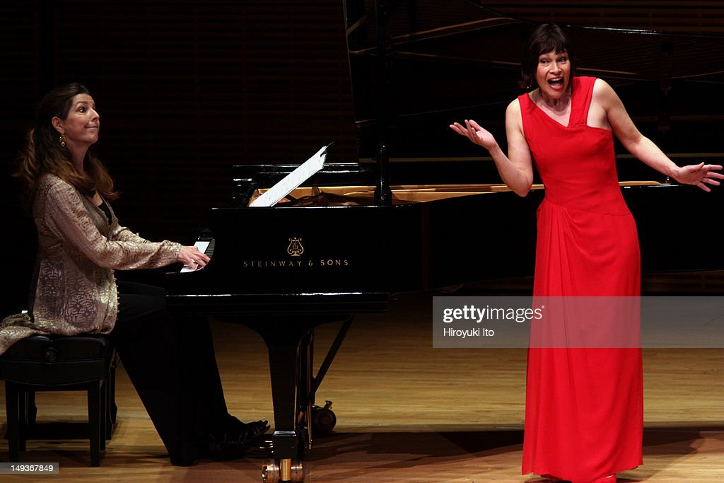 Soprano Sandrine Piau, accompanied by pianist Susan Manoff, performing songs by Mendelssohn, Faure, Chausson, Strauss, Bouchot, Poulenc and Britten at Zankel Hall on Thursday night, April 26, 2012. For The New York Times.