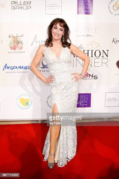 Soprano singer Anna Maria Kaufmann attends the Kempinski Fashion Dinner on May 23 2017 in Munich Germany