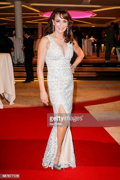 Soprano singer Anna Maria Kaufmann during the Kempinski Fashion Dinner on May 23 2017 in Munich Germany