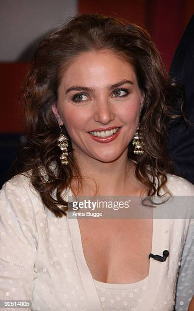 Soprano Singer Annette Dasch attends the taping of the birthday show for singer Thomas Quasthoff on October 15 2009 in Berlin Germany