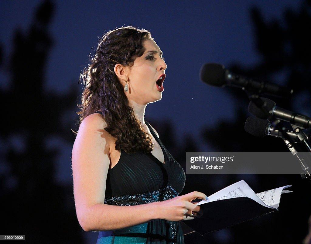 Soprano singer Clarissa Lyons performs A Julia De Burgos as Michael