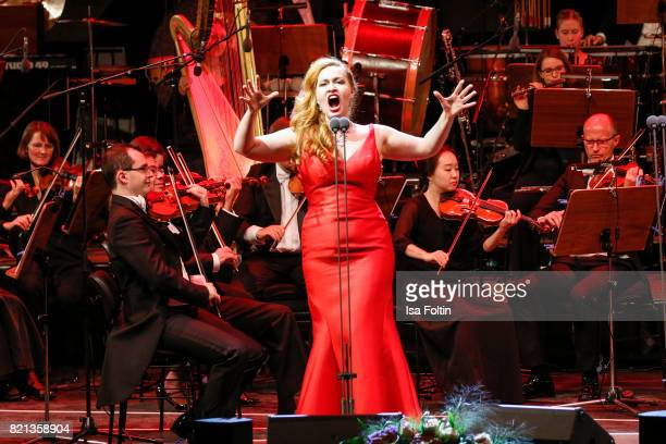 Soprano singer Elena Stikhina perfom on stage during the Thurn Taxis Castle Festival 2017 on July 23 2017 in Regensburg Germany