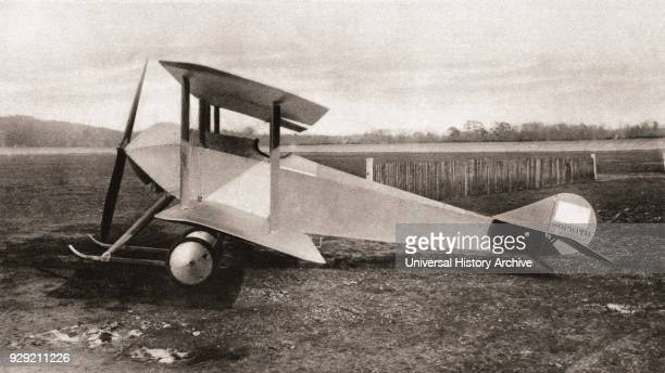 Sopwith Tabloid, single seater scout tractor biplane used during World War One. From The Illustrated War News, published 1915.