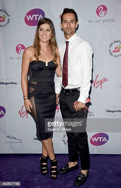 Sorana Cirstea and Santiago Giraldo attend the annual WTA Pre-Wimbledon Party presented by Dubai Duty Free at the Kensington Roof Gardens on June 23,...