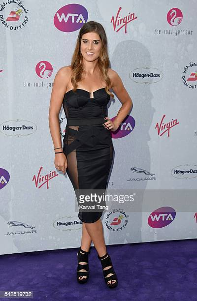 Sorana Cirstea arrives for the WTA PreWimbledon Party at Kensington Roof Gardens on June 23 2016 in London England