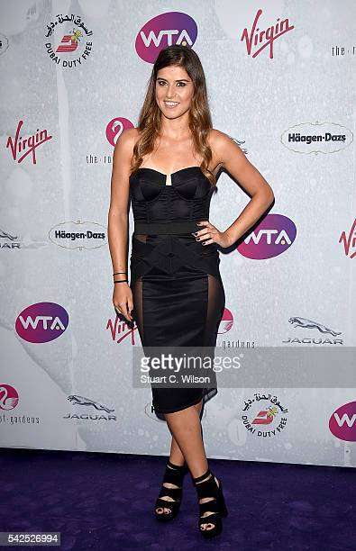 Sorana Cirstea attends the annual WTA PreWimbledon Party presented by Dubai Duty Free at the Kensington Roof Gardens on June 23 2016 in London England