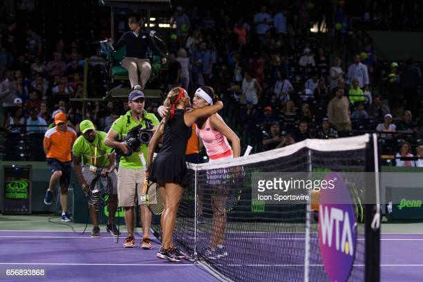 Sorana Cirstea in action during the Miami Open on March 22 at the Tennis Center at Crandon Park in Key Biscayne FL