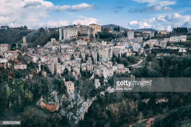 sorano - grosseto province stock photos and pictures