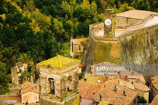 Sorano. View of the old town from the castle