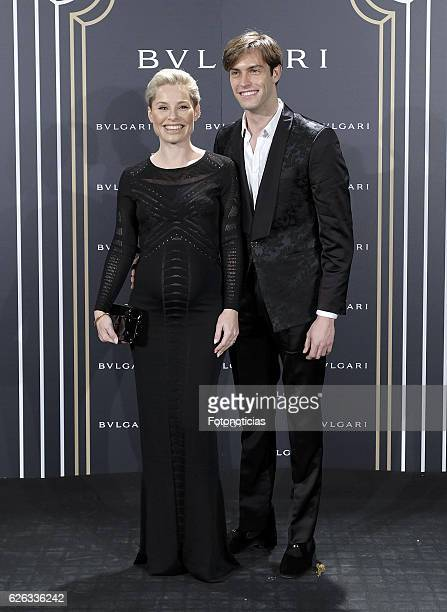 Soraya Arnelas and Miguel Angel Herrera attend the 'Bvlgari y Roma' exhibition presentation at the Italian Embassy on November 28 2016 in Madrid Spain