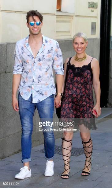 Soraya Arnelas and Miguel Herrera are seen on July 4 2017 in Madrid Spain