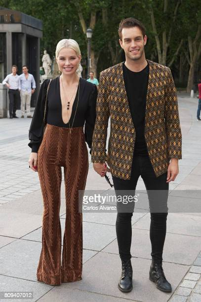 Soraya Arnelas and Miguel Herrera attend the Sting concert at the Royal Teather on July 5 2017 in Madrid Spain