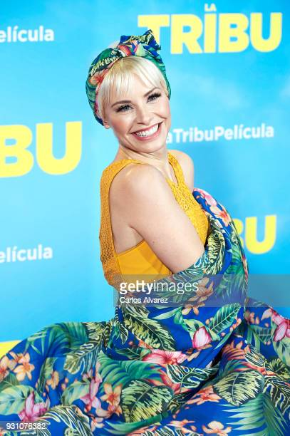 Soraya Arnelas attends 'La Tribu' premiere at the Capitol cinema on March 12 2018 in Madrid Spain