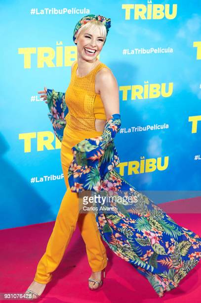 Soraya Arnelas attends 'La Tribu' premiere at the Capitol cinema on March 12 2018 in Madrid Spain
