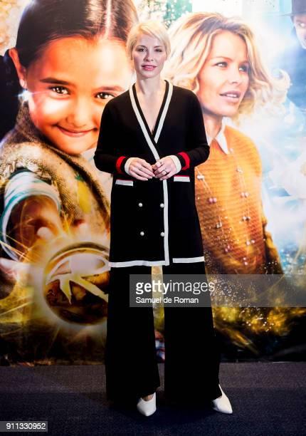 Soraya Arnelas attends the 'La Bola Dorada' Madrid Premiere on January 28 2018 in Madrid Spain
