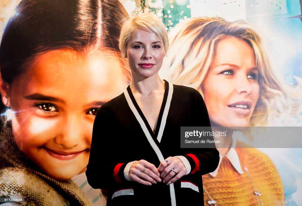 Soraya Arnelas attends the 'La Bola Dorada' Madrid Premiere on January 28, 2018 in Madrid, Spain.