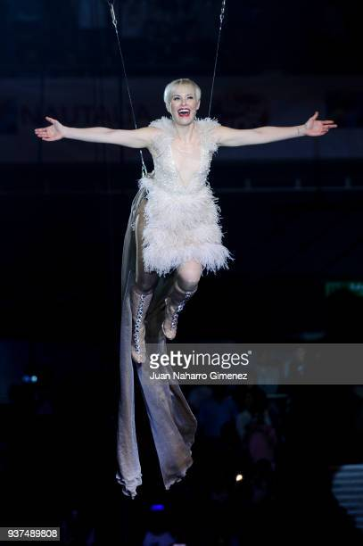 Soraya Arnelas performs during 'La Noche De Cadena 100' charity concert at WiZink Center on March 24 2018 in Madrid Spain