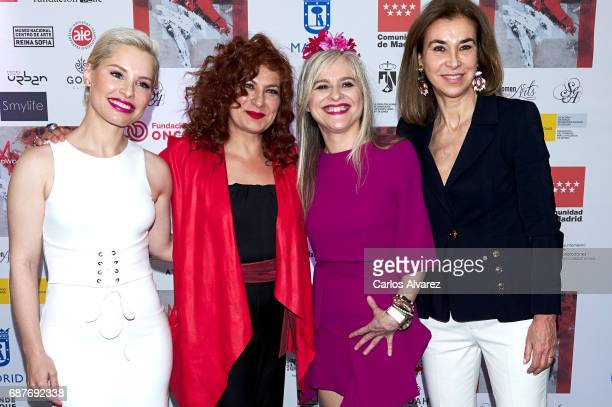 Soraya Arnelas Pilar Jurado Maria Lafuente and Carmen Posadas attend the 'Madwomenfest' presentation at the Palacio de los Deportes WiZink Center on...