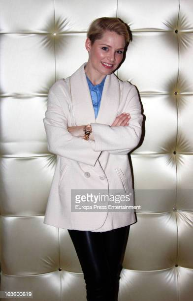 Soraya Arnelas poses during a portrait session on March 12 2013 in Madrid Spain