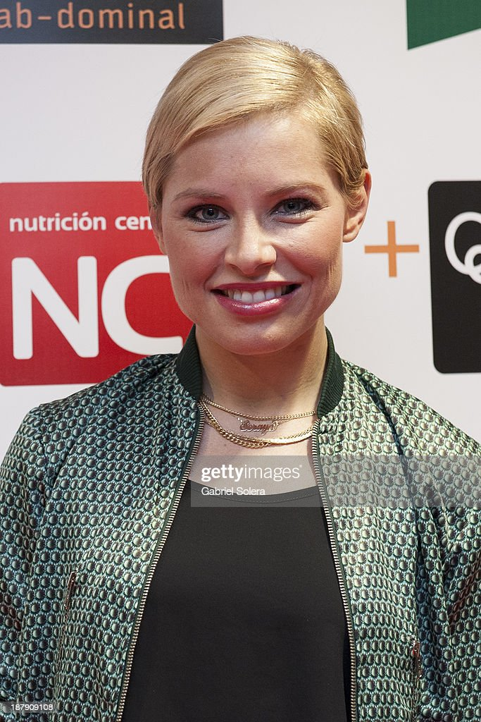 Soraya Arnelas presents Lipomorosil at El Corte Ingles Store on November 13, 2013 in Madrid, Spain.