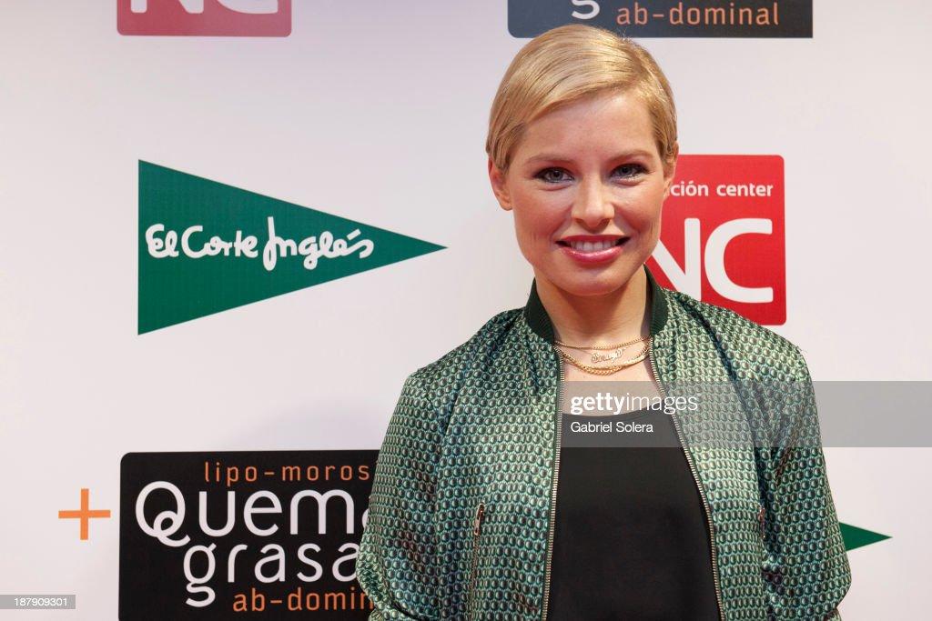 Soraya Arnelas presents Lipomorosil at El Corte Ingles Store on November 13, 2013 in Madrid, Spain.
