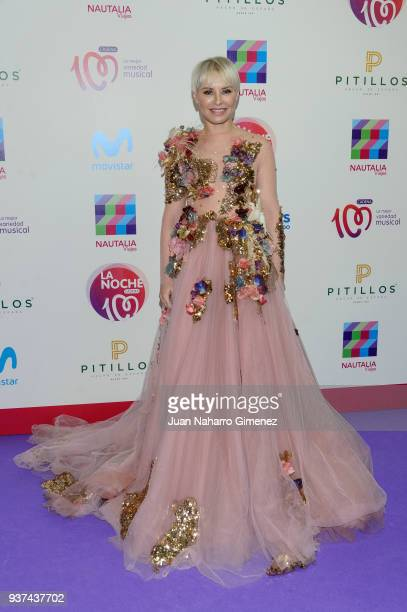 Soraya attends 'La Noche De Cadena 100' charity concert at WiZink Center on March 24 2018 in Madrid Spain