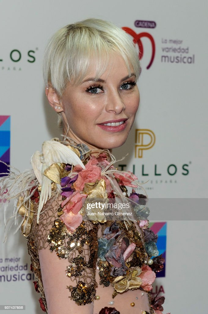 Soraya attends 'La Noche De Cadena 100' charity concert at WiZink Center on March 24, 2018 in Madrid, Spain.