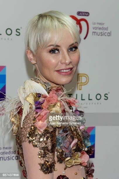 Soraya attends 'La Noche De Cadena 100' charity concert at WiZink Center on March 24 2018 in Madrid Spain