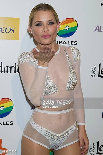 Soraya attends the photocall at '40 Principales' Primavera Pop Festival at Palacio Vistalegre Arena on May 24 2014 in Madrid Spain