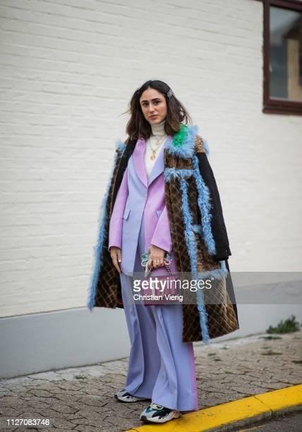 Soraya Bakhtiar is seen outside Baum und Pferdgarten during the Copenhagen Fashion Week Autumn/Winter 2019 Day 3 on January 31 2019 in Copenhagen...
