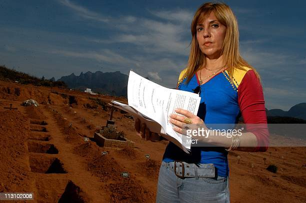 Soraya Gaya a prosecutor in Teresopolis stands in the children's section of the local public cemetery where poor women bury infants and stillborn...